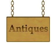 Letrero de las antigüedades Fotografía de archivo libre de regalías