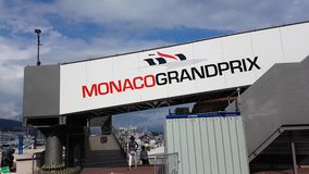 Letrero de Mónaco Grand Prix almacen de metraje de vídeo