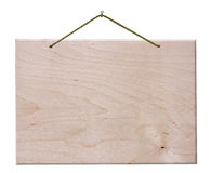 Letrero de madera - aislado con el camino de recortes Fotos de archivo