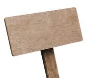 Letrero de madera de Brown Imagen de archivo libre de regalías