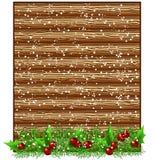 Letrero de madera de la Navidad Foto de archivo libre de regalías