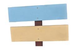 Letrero de madera del estilo en colores pastel Foto de archivo libre de regalías