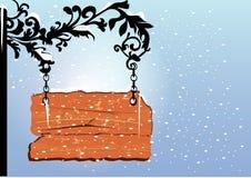Letrero de madera en blanco Fotos de archivo libres de regalías