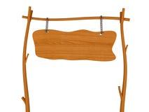 Letrero de madera en blanco Imágenes de archivo libres de regalías