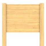 Letrero de madera en blanco Foto de archivo libre de regalías