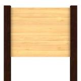 Letrero de madera en blanco Imagen de archivo