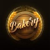 Letrero de madera de la panadería stock de ilustración