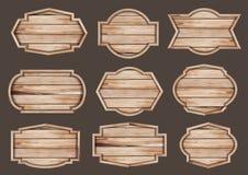 Letrero de madera realista de la muestra de madera del vector libre illustration