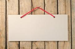 Letrero de papel Imagen de archivo libre de regalías
