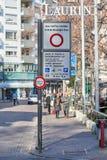 Letrero de Zona Traffico Limitato Imagen de archivo