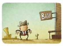 Letrero del oeste salvaje 'banco' Foto de archivo libre de regalías