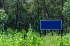 Letrero en el bosque Fotografía de archivo libre de regalías