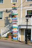 Letrero para los turistas (Kennebunk los E.E.U.U.)) Fotografía de archivo