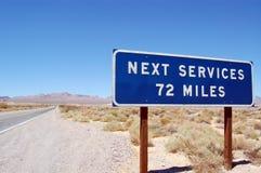Letrero siguiente de los servicios Imagen de archivo