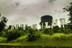Letrero viejo en el belud Sabah de Kota imagen de archivo libre de regalías