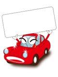 Letrero y coche Fotografía de archivo