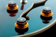 letric blå gitarr Arkivfoto