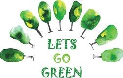 Lets держит зеленый цвет земли! Стоковое Фото