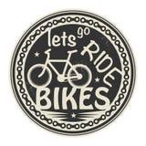 Lets去乘驾自行车 库存例证