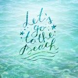 Lets去海滩 库存图片