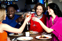 Lets celebrate...Cheers! Royalty Free Stock Photos