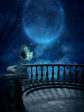Lets Dance. A place to dance and listen to music while overlooking the moon Stock Photography