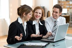 Lets do it, business teamwork Royalty Free Stock Photo