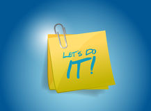 Lets do it post illustration design Royalty Free Stock Photo