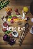 Lets Eat Dinner Eating Dining Food Nutrition Concept Stock Images