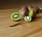 Lets eat kiwis! Stock Images