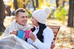Lets enjoy this wonderful and pretty day Stock Images