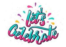 Lets firar bokstävertext med färgbokstaven och planlägger beståndsdelar Arkivfoton