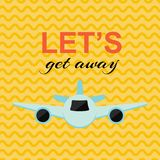 Lets get away card vector illustration