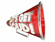 Lets Get Loud Bullhorn Megaphone Stock Photo