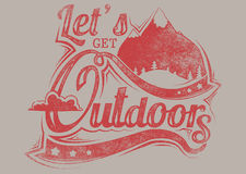 Lets get outdoors Royalty Free Stock Images