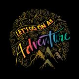 Lets go on an adventure. Doodle of Lets go on an adventure Stock Photography