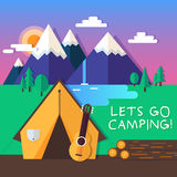Lets go camping Royalty Free Stock Image