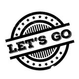 Lets Go rubber stamp Stock Image
