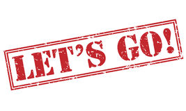 Lets go! stamp. Lets go! red stamp on white background Royalty Free Stock Photo
