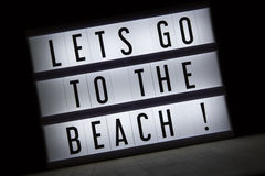 Lets go to the beach Royalty Free Stock Photo