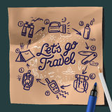 Lets go travel, adventure motivation concept Stock Photography