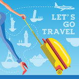 Lets go travel Royalty Free Stock Image
