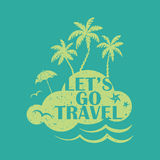 Lets go travel Royalty Free Stock Photography