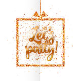 Lets party banner on white Stock Photography