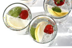 Lets party! summer drinks water Royalty Free Stock Photo