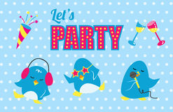 Lets party vector poster Stock Images