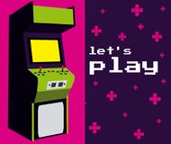 Lets play arcade. Colorful vector illustration graphic concept Stock Image