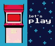 Lets play arcade. Colorful vector illustration graphic concept Stock Photography