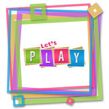 Lets Play Colorful Frame Royalty Free Stock Images