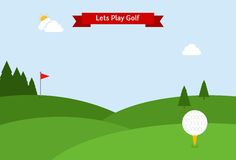 Lets play golf Stock Images